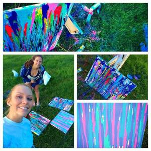 My BF Sara and I doing our best Jackson Pollock