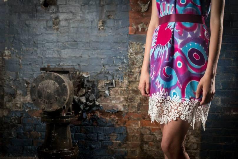 Silk, Lace Dress