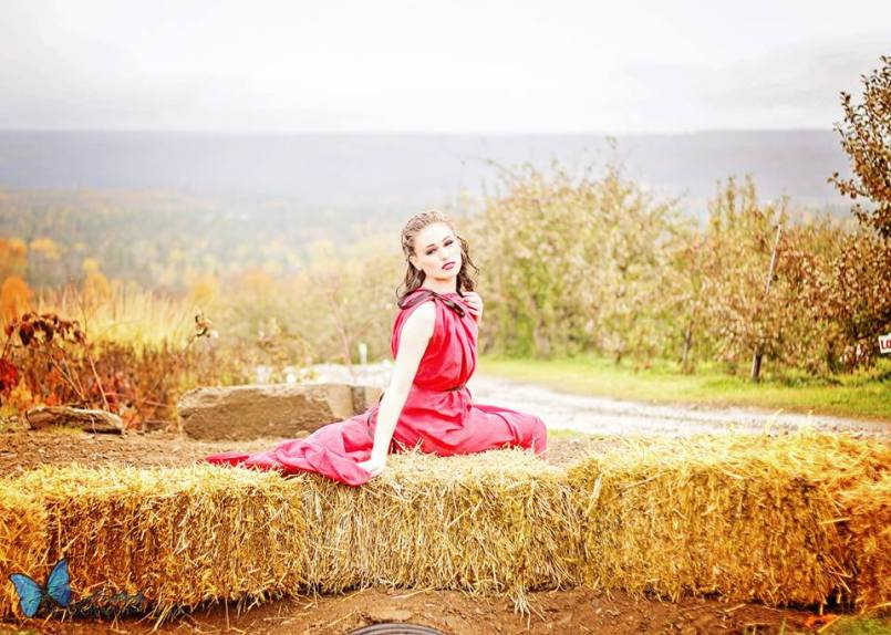 Apple Orchard and Red Silk